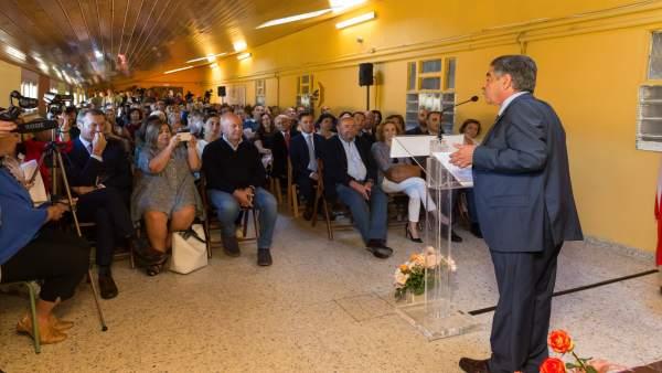 Miguel Ángel Revilla en el acto de apertura del curso escolar 2018-2019
