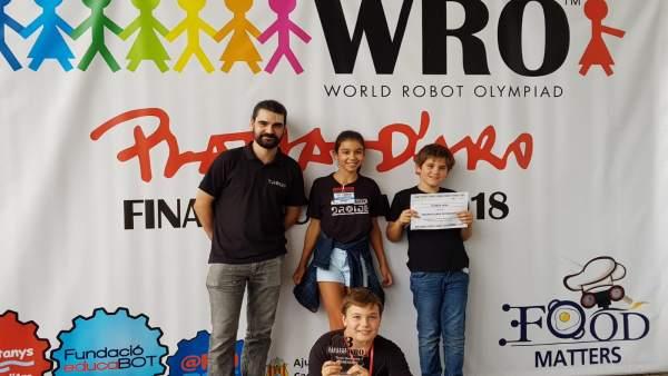 Los niños que participan en el certamen
