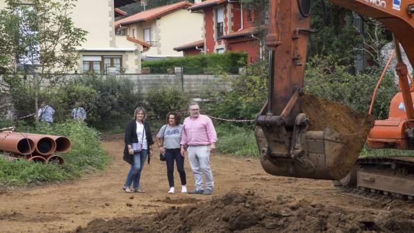 Obras para evitar las inundaciones en el Barrio La Llastra