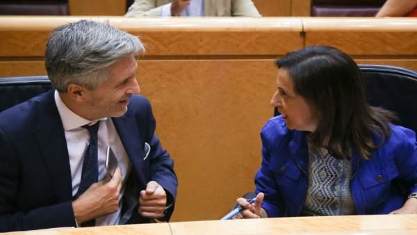 Fernando Grande- Marlaska y Margarita Robles en el Senado