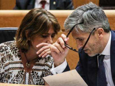 Fernando Grande- Marlaska y Dolores Delgado