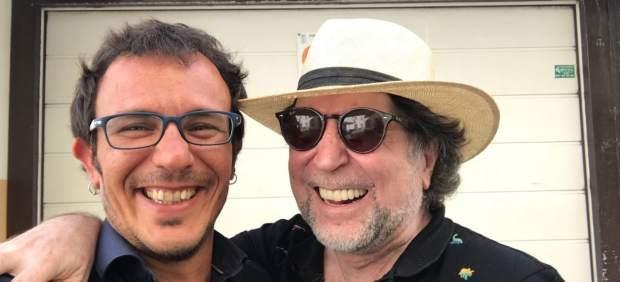 Joaquín Sabina con el alcalde de Cádiz