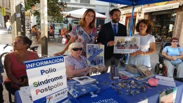CArmen Casero en campaña polio