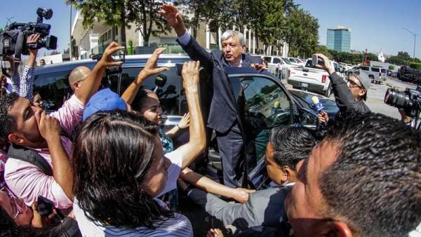 López Obrador en Tijuana, México