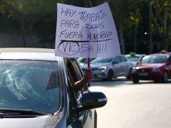 Manifestación de los VTC en Madrid