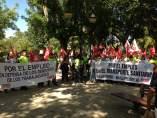 Trabajadores de ambulancias de C-LM se manifiestan en Toledo
