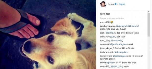 Primera imagen en Instagram