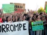 Huelga de los estudiantes de la URJC