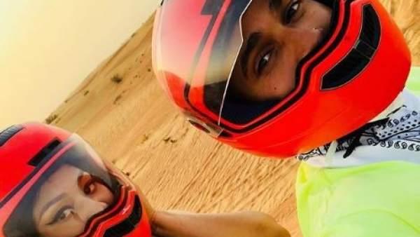 Nicki MInaj y Lewis Hamilton