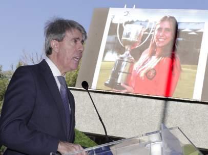 Ángel Garrido, presidente de la Comunidad de Madrid recuerda a Barquín