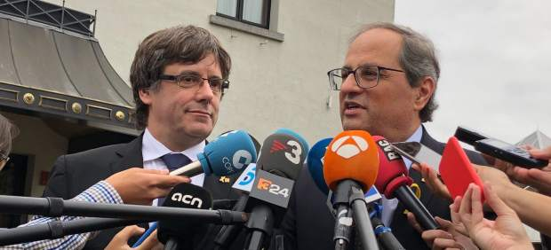 Los viajes de Torra a Bélgica en verano para ver a Puigdemont costaron 21.600 €