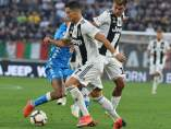 Cristiano Ronaldo, en el partido entre Juventus y Napoles.