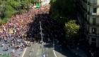Arranca la marcha contra las cargas policiales del 1-O