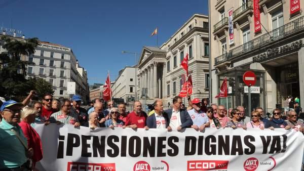 Los pensionistas marchan en Madrid