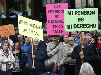 Marcha de jubilados en Pamplona