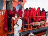 Rescate de personas en Alborán