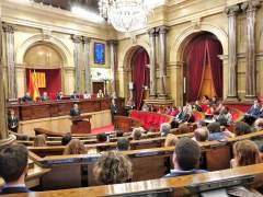 Quim Torra en el pleno del Parlament.