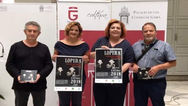 Presentación de la exposición 'Lopera, vida de un pueblo en la pared'.