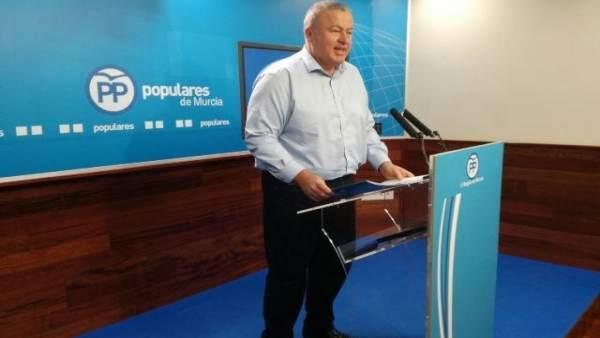 El viceportavoz del Partido Popular de la Región de Murcia, Francisco Bernabé