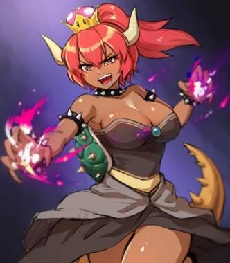 Bowsette, personaje creado por los fans de Mario Bros.