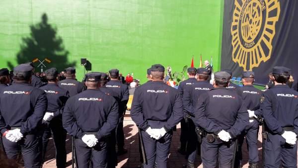 Acto del Día de la Policía Nacional en Pamplona.