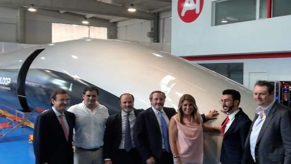 La presidenta de la Junta, Susana Díaz, presenta el nuevo tren Hyperloop