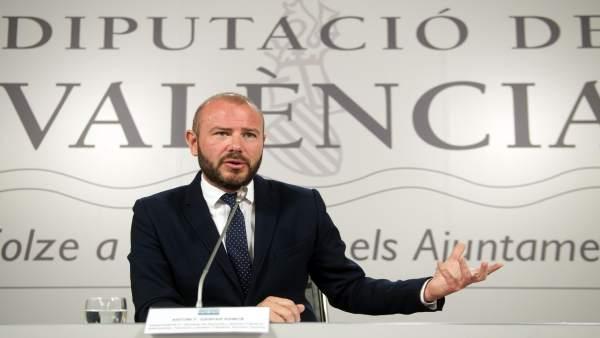 El presidente de la Diputación de Valencia, Toni Gaspar, en una imagen reciente
