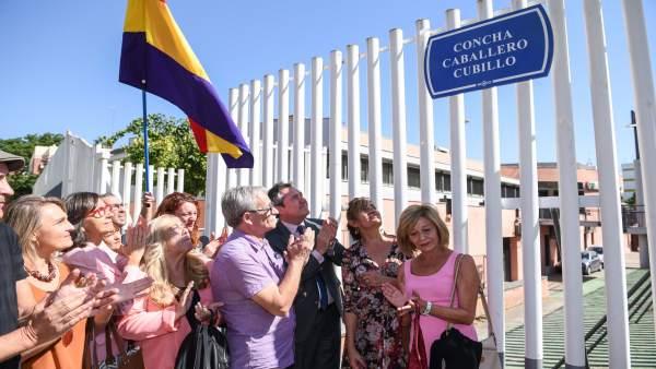 Inauguración de la calle Concha Caballero en Sevilla