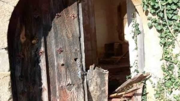 Iglesia de Masegoso, objeto también de expolio.