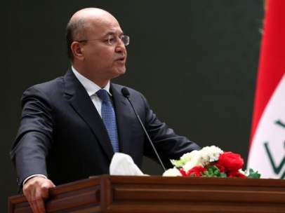Barham Saleh, , presidente de Irak