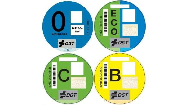 Etiqueta medioambiental de la DGT