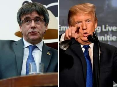 Puigdemont y Trump
