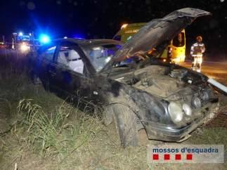 Accidente de tráfico mortal