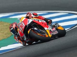 El piloto de MotoGP Marc Márquez (Repsol Honda) en Buriram
