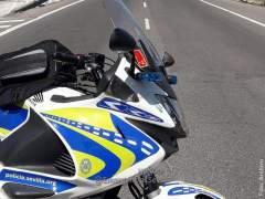Moto de la Policía Local de Sevilla