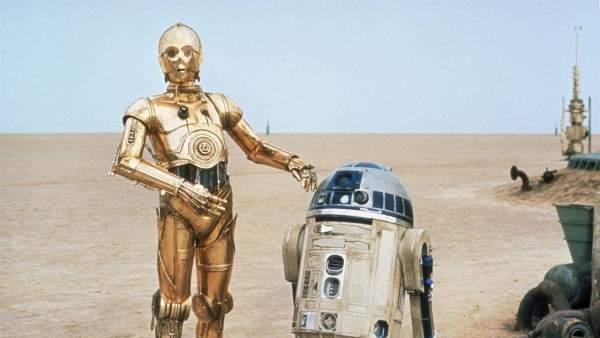 C3PO y R2D2, saga 'Star Wars' (1977-2018)