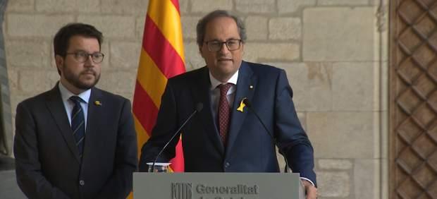 Torra y Aragonès se conjuran para fortalecer el Govern