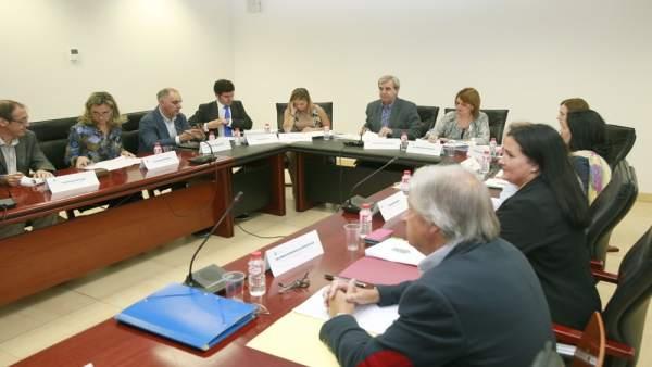 Reunión de la Mesa Sectorial de Función Pública, presidida por el consejero