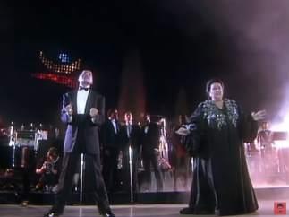 Freddie Mercury y Montserrat Caballé