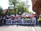 Manifestación 'Salvemos Teruel' en la capital aragonesa.