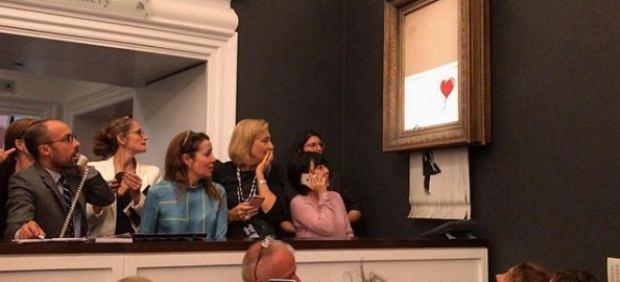 La compradora del Banksy destruido confirma que pagará los 1,18 millones