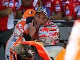 Marc Márquez (Repsol Honda), tras ganar el Gran Premio de Aragón