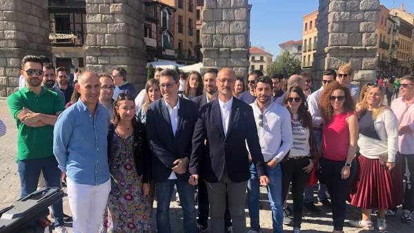 Segovia.- Fuentes, durante un acto hoy en Segovia.