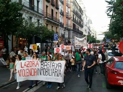 Manifestación por una ley de vivienda