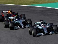 Hamilton, Bottas y Verstappen