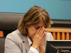 La ministra de Justicia Dolores Delgado durante la presentación de un libro en el Congreso