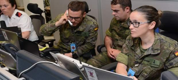 Imagen de militares españoles, durante el ejercicio