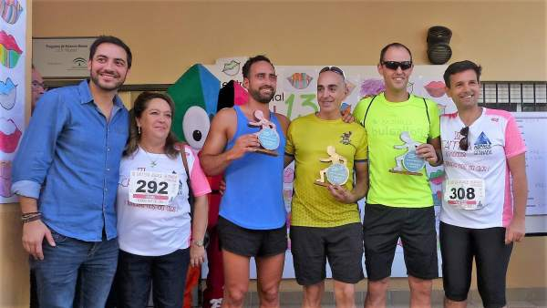 Participantes de la carrera-marcha de Aspace