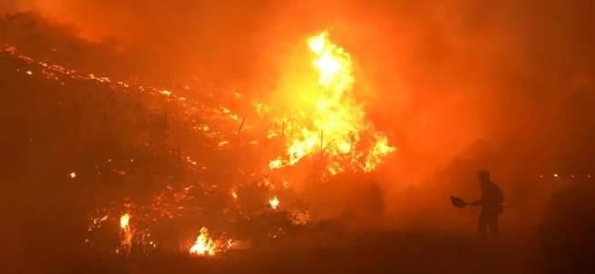 Incendio en Mondariz, Pontevedra