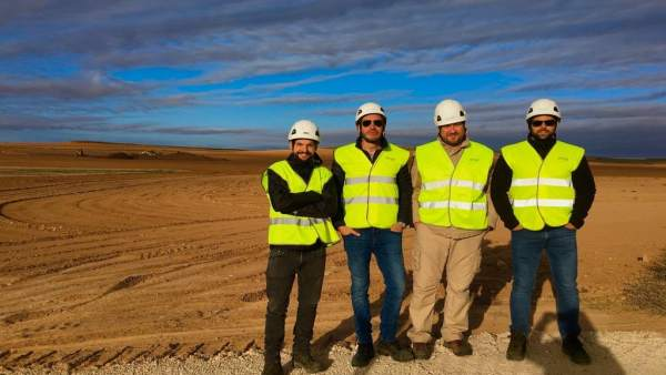 Equipo de construcción EGPE, en Muniesa.